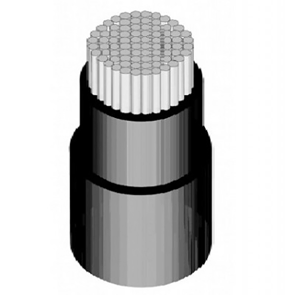 کابل برق آلومینیوم NAYYبرند دامغان سایز 25*5 PVC