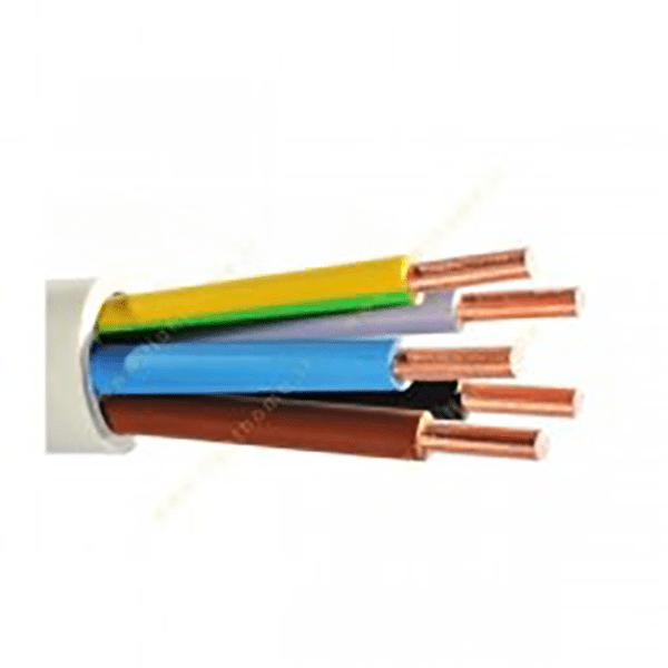 کابل برق مفتولی NYY-O برند باختر سایز 6*5